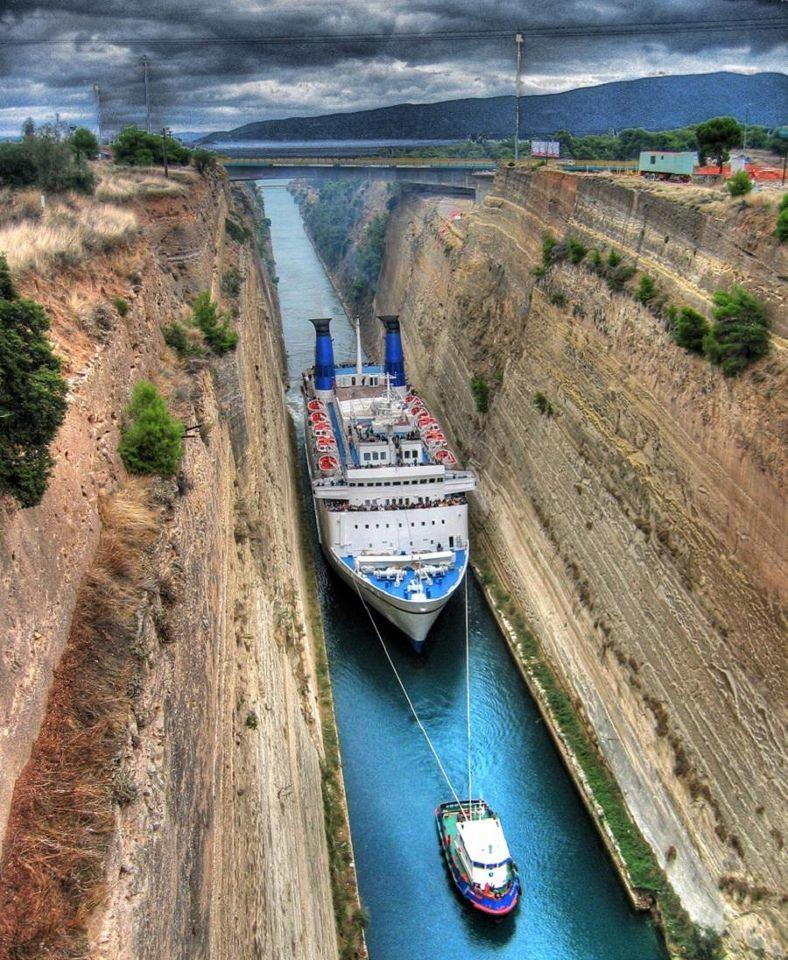 le canal de corinthe