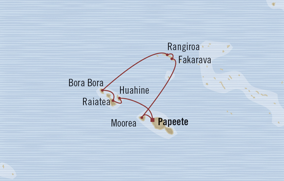 PAPEETE TO PAPEETE  10 Days aboard Marina | Fares from €1,289