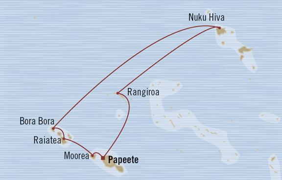 croisière de luxe à tahiti