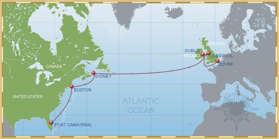 Croisière transatlantique Disney Cruise Line
