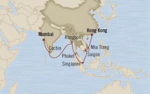 oceania cruises asie inde