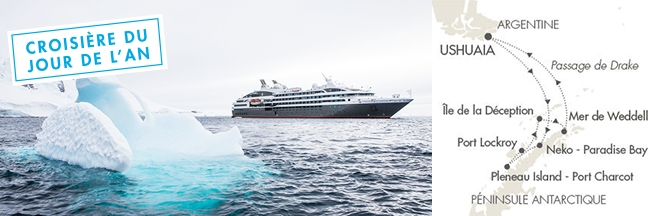 L'Antarctique Emblématique Croisière du Jour de l'An 2016