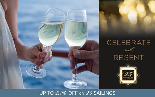 Croisières Regent Seven Seas Cruises 25ème anniversaire